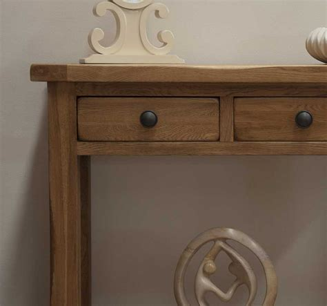 Tilson Solid Rustic Oak Furniture Hallway Console Table Ebay