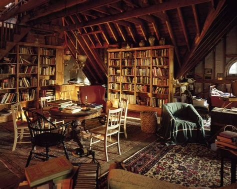 Reading Room, Pink Attic Furniture And Library Room