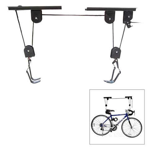Ceiling Mount Bicycle Lift Storage Hook by Ceiling Mount Pulley Bicycle Bike Storage Hanger Hoist