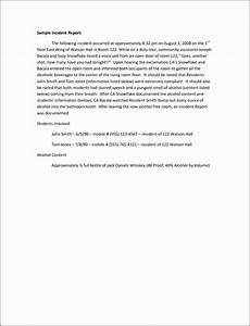 incident report template word 11 employee incident report template sampletemplatess
