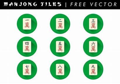 Mahjong Tiles Clipart Tile Vektor Kostenlos Vecteezy