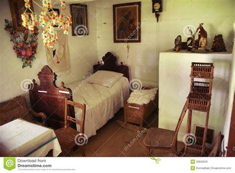 wooden  rustic bedroom stock image image