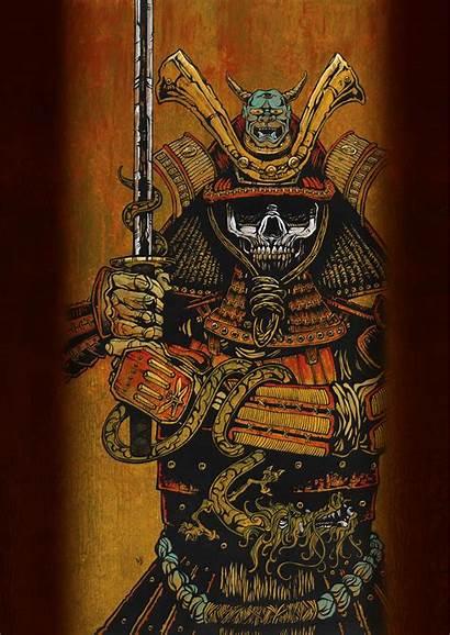 Samurai Tattoo David Lozeau Arte Tattoos Skull