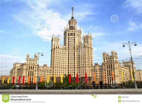 soviet building  moscow stock photo image  high