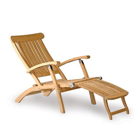 teak steamer chair classic outdoor teak deck chair