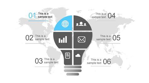lightbulb  segments powerpoint diagram slidemodel