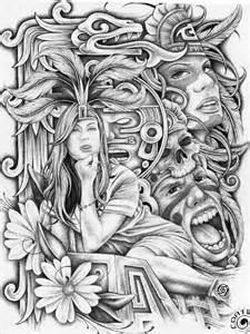 Lowrider Aztec Art Tattoos