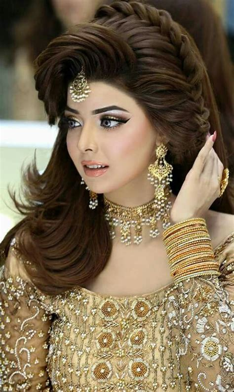 elegant  easy   walima hairstyle ideas  girls
