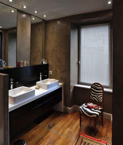 salle d eau dans chambre chambre salle d 39 eau dressing contemporain salle de