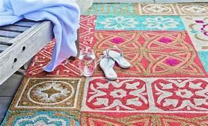 Tapis Carreaux De Ciment Saint Maclou : tapis imitation carreaux de ciment saintmaclou with tapis lino imitation carreaux de ciment ~ Nature-et-papiers.com Idées de Décoration