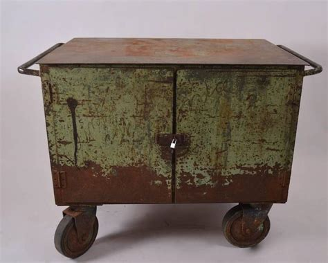 bar cart with doors two door industrial cart on wheels for at 1stdibs 4306