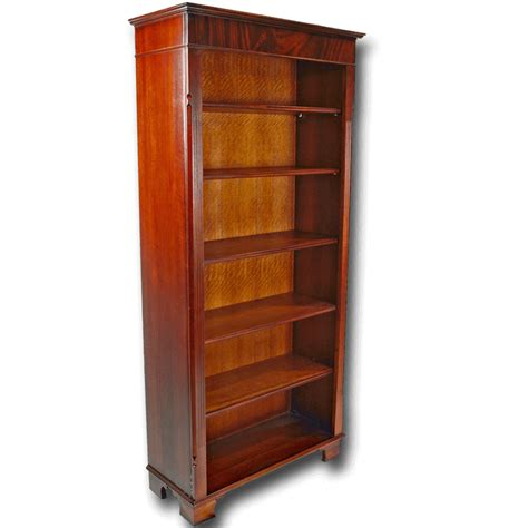 Reproduction Bookcase by Reproduction Large Regency Open Bookcase In Yew And Mahogany