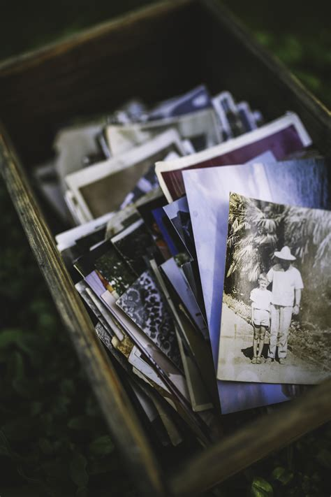 Old photos in the box · Free Stock Photo