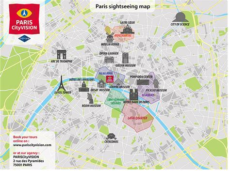 tourist map  paris  travel information