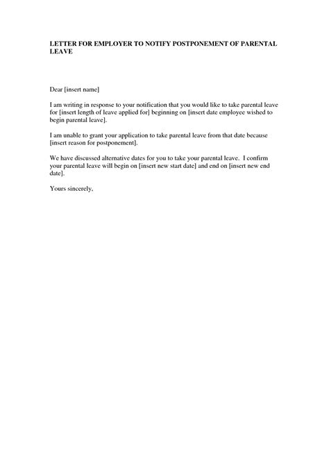 sample maternity leave letter employer 10 best images of sample maternity leave notice