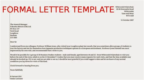 Samples Business Letters