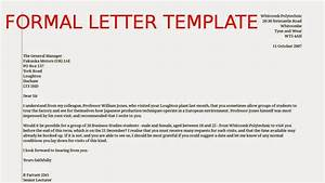 formal letter template samples business letters With how to write a formal email for job application