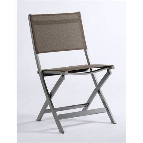 chaise pliante aluminium textilene chaise pliante joe aluminium graphite assise textilène taupe
