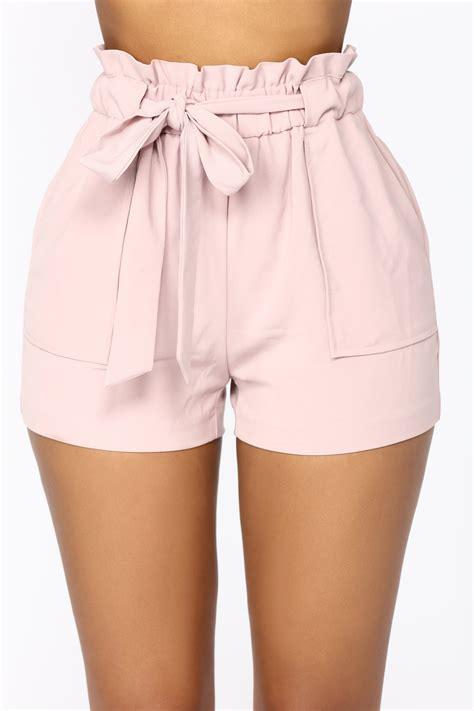 Jessie High Waisted Shorts - Pink