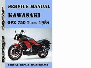 Kawasaki Gpz 750 Turbo 1984 Service Repair Manual