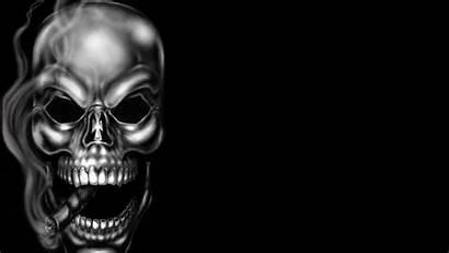 Skull Smoke Smoking Wallpapers Dangerous Skeleton Calaveras
