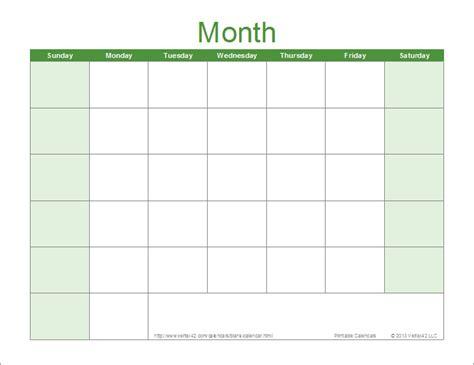 blank activity calendar template images printable blank calendar