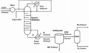 Flow Sheet Of Biodiesel Production By Reactive