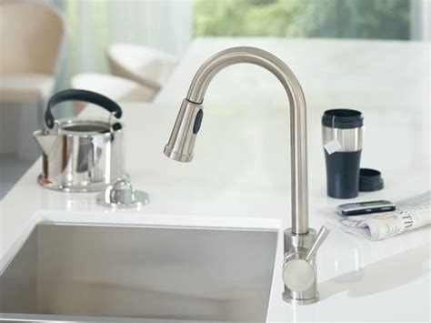 robinet de cuisine moen moen 7175 level one handle high arc pullout kitchen faucet