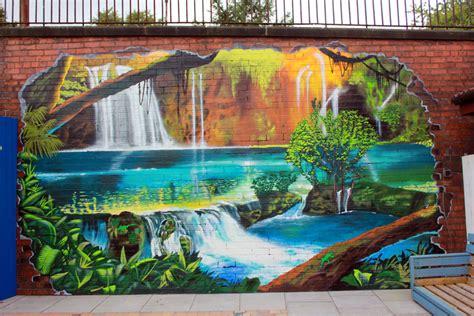 garden wall graffiti murals