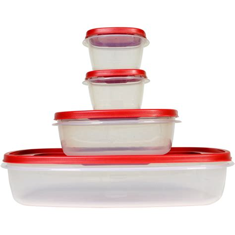 Shop Rubbermaid 4piece Plastic Food Storage Container At