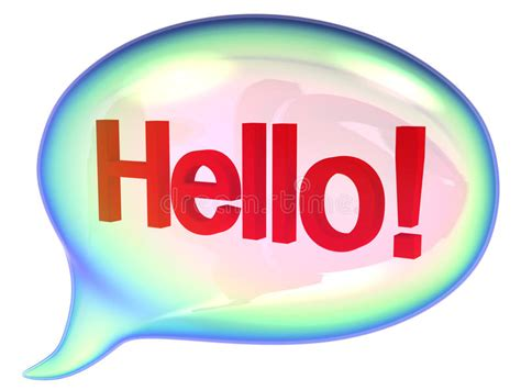 Speech Bubbles With Hello Sign Stock Illustration ...