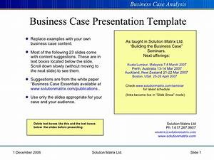 Simple business case template powerpoint enactioninfo for Presenting a business case template