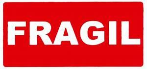 Market Plan E Office Application Delivery Label Quot Fragil Quot 50 100mm Ref