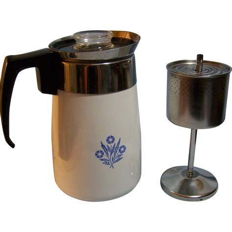 coffee pot on stove stove top coffee pot corning ware 6 cup blue cornflower from wings on ruby