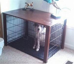 how to build diy end table dog crate pdf plans With table over dog crate