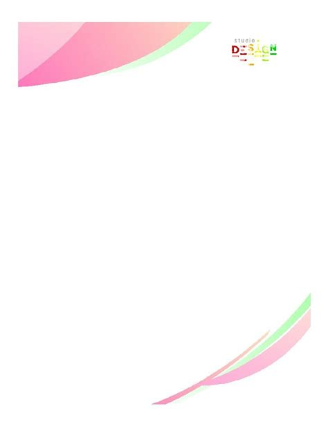 fancy letterhead templates  printable letterhead