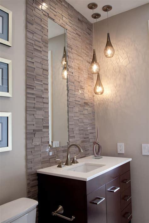 bathroom vanity  stacked stone tile wall hgtv