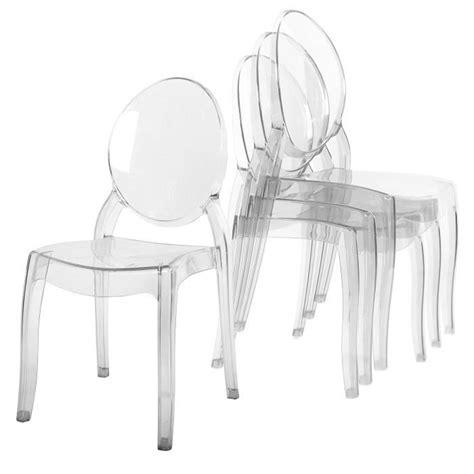 chaises plexiglass lot de 4 chaises transparent en plexi ronda achat