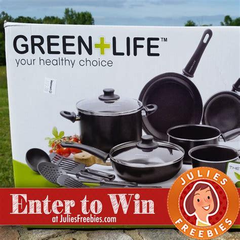 cookware greenlife piece win gourmet non nonstick stick juliesfreebies