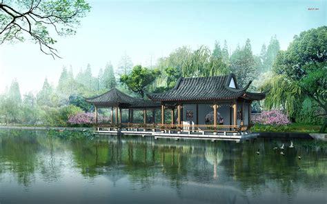 japanese house fantasy nature