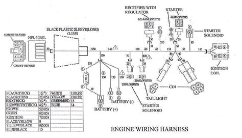 engine wiring harness for yerf cuvs 05138 bmi karts and parts