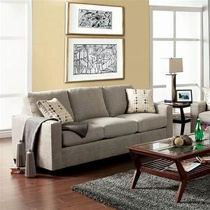 Venetian worldwide wolver pewter sofa w pillows made in for Stratford home pillows living room furniture