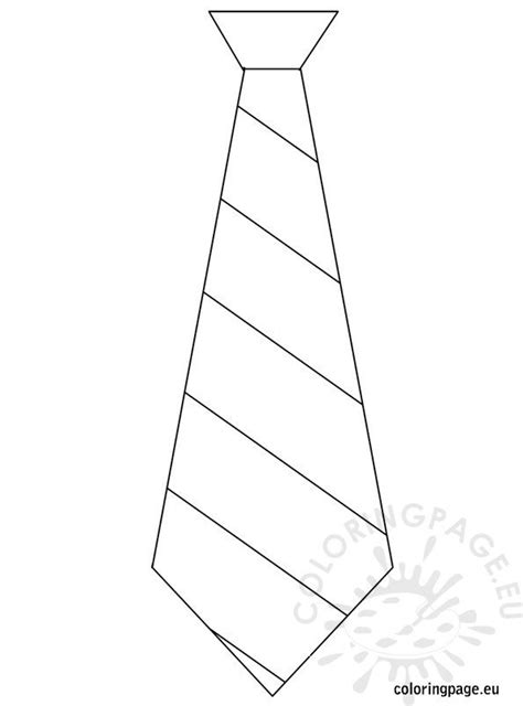 fathers day template tie coloring page