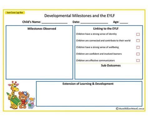 developmental milestones eylf aussie childcare network