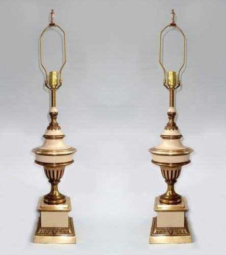 Stiffel Brass Ls Value by Pair Of Vintage Stiffel Table Ls Enamel Brass