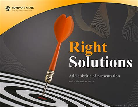 solutions powerpoint template