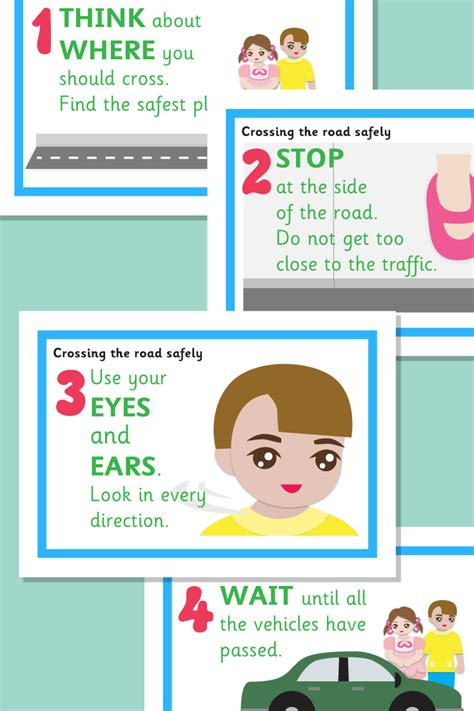 crossing the road safely posters road safety theme 762 | d5fdd5eca9790ddd19f986164dd6b74d