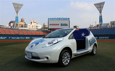 Nissan Leaf Torque by Yokohama Stadium Features Nissan Leaf As Bullpen Car Torque