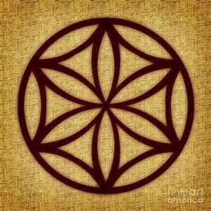 Rozeta Solar Symbol Flower Of Life Digital Art by Olga
