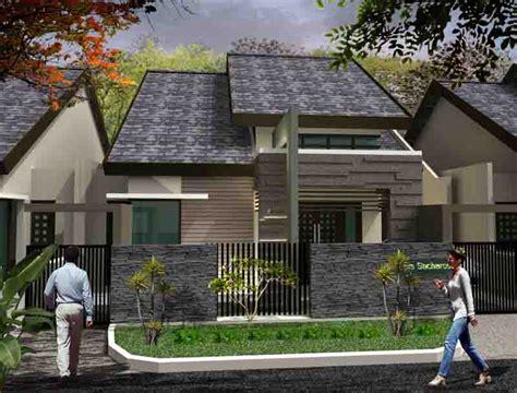 model rumah minimalis atap miring  bentuk  unik